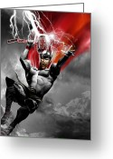 Thor Digital Art Greeting Cards - Thor Greeting Card by Gary Deslauriers