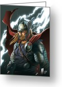 Thor Digital Art Greeting Cards - Thor Greeting Card by YleniArt Italy