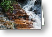 White River Scene Greeting Cards - Thoreau Falls - White Mountains New Hampshire  Greeting Card by Erin Paul Donovan