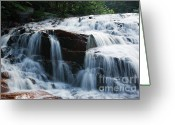 White River Scene Greeting Cards - Thoreau Falls - White Mountains New Hampshire USA Greeting Card by Erin Paul Donovan