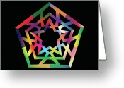 Chromatic Greeting Cards - Thoreau Star II Greeting Card by Eric Edelman
