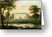 Britain Painting Greeting Cards - Thorp Perrow near Snape in Yorkshire Greeting Card by English School