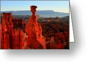 Thor Photo Greeting Cards - Thors Hammer in Bryce Canyon at sunrise Greeting Card by Pierre Leclerc