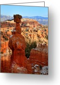Thor Greeting Cards - Thors Hammer in Bryce Canyon Greeting Card by Pierre Leclerc