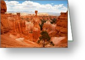 Bryce Canyon Greeting Cards - Thors Hammer Greeting Card by Jane Rix