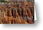 Canyon Greeting Cards - Those Hoodoos.  Bryce Canyon Greeting Card by John Rav