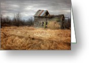 Dilapidated Greeting Cards - Those Were the Days Greeting Card by Lori Deiter