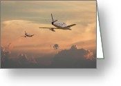Military Aircraft Greeting Cards - Those were the days...... Greeting Card by Pat Speirs