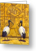 Sacred Greeting Cards - Thoth Greeting Card by Catherine G McElroy