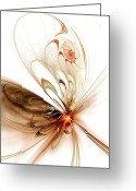 Web Digital Art Greeting Cards - Thought Catcher Greeting Card by Anastasiya Malakhova
