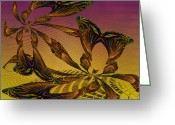 Lacy Contemporary Greeting Cards - Thoughts of Fall Greeting Card by Anne Lacy