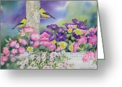 Planter Greeting Cards - Thoughts Of You Greeting Card by Deborah Ronglien