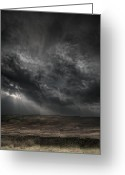 Dark Cloud Greeting Cards - Threatening Skies Greeting Card by Andy Astbury