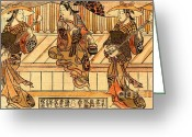 Teapot Greeting Cards - Three Actors 1721 Greeting Card by Padre Art