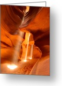 Contest Greeting Cards - Three Beams of Light Greeting Card by Adam Pender