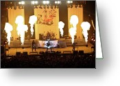Evansville Greeting Cards - Three Days Grace On Fire Greeting Card by Amber Flowers