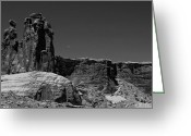 National  Parks Greeting Cards - Three Gossips Moon Setting Arches National Park Greeting Card by Scott McGuire