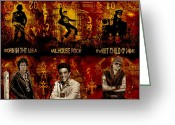 Elvis Presley Greeting Cards - Three Kings Greeting Card by Dancin Artworks