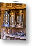 Shack Greeting Cards - Three Lanterns and a Shoe Greeting Card by Joe  Palermo
