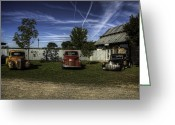 Old Chevrolet Truck Greeting Cards - Three Old Timers Greeting Card by Thomas Young