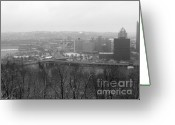 Pittsburgh Greeting Cards - Three Rivers Greeting Card by David Bearden