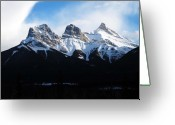 Canadian Rockies Greeting Cards - Three Sisters Greeting Card by Steve Parr
