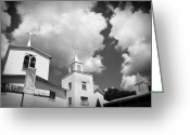 Design And Photography. Greeting Cards - Three Steeples Greeting Card by Toni Hopper
