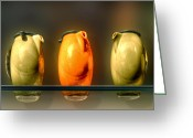 Stoneware Digital Art Greeting Cards - Three Tenors Greeting Card by Paul Wear