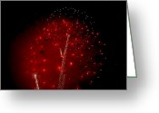 Pyrotechnics Greeting Cards - Three Way Greeting Card by Paul Mangold