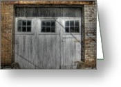 Missouri Photographer Greeting Cards - Three windows Make a Door Greeting Card by Jane Linders