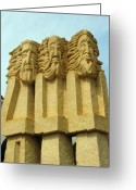 Assisi Greeting Cards - Three Wise Men 2 Greeting Card by Ellen Henneke