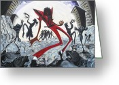 King Of Pop Greeting Cards - Thriller V2 Greeting Card by Tu-Kwon Thomas