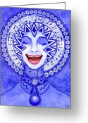 Creativity Greeting Cards - Throat Chakra Greeting Card by Catherine G McElroy
