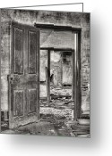 Abandoned Houses Greeting Cards - Through the Doors of Time Greeting Card by JC Findley