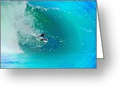 Surf Art La Jolla Digital Art Greeting Cards - Through the Looking Glass Greeting Card by David Rearwin