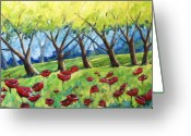 Flowers Direct Greeting Cards - Through The Meadows Greeting Card by Richard T Pranke