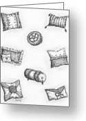 Pillows Greeting Cards - Throw Pillows Greeting Card by Adam Zebediah Joseph