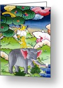 Shi Greeting Cards - Thuenpa puen shi  Greeting Card by Fabrizio Troiani