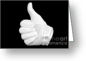 Expressing Greeting Cards - Thumbs Up Greeting Card by Richard Thomas