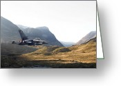 Military Aircraft Greeting Cards - Thunder in the Glen Greeting Card by Pat Speirs