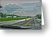 Hdr Look Photo Greeting Cards - Thunder Road Greeting Card by Alan Look