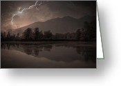 Strike Greeting Cards - Thunder Storm Greeting Card by Joana Kruse