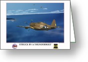 American Airmen Greeting Cards - Thunder Struck Greeting Card by Jerry Taliaferro