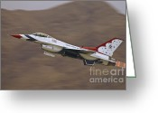 Usaf Greeting Cards - Thunderbird Burner Climb Greeting Card by Tim Mulina