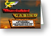 Sunset Posters Greeting Cards - Thunderbird Casino Greeting Card by Anthony Ross