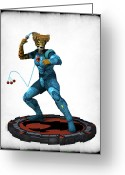 Thundercats Greeting Cards - Thundercats 3000 - Tygra v2 Greeting Card by Frederico Borges