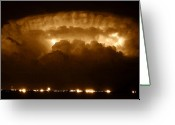 Storm Digital Art Greeting Cards - Thundercloud Greeting Card by David Lee Thompson