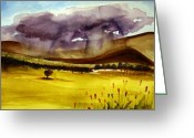 Hill Photographs Greeting Cards - Thundering Greeting Card by Julie Lueders