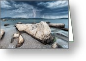 Bulgaria Greeting Cards - Thunderstorm  Greeting Card by Evgeni Dinev