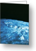 Outerspace Greeting Cards - Thunderstorm Greeting Card by Science Source